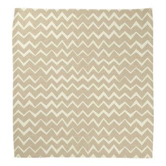 Zigzag pattern bandana