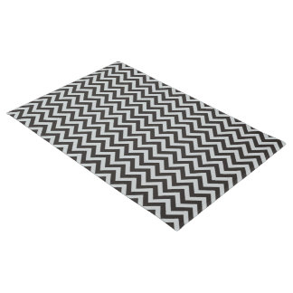 ZIGZAG pattern - black + your background & ideas Doormat