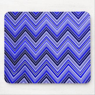Zigzag Pattern - Blue Mouse Pad