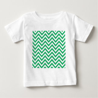 Zigzag Pattern Emerald Spring Green and White Chev Tee Shirts