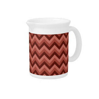 Zigzag Pattern in Cool Shades of Red Pitcher