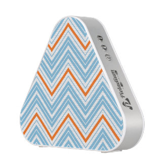Zigzag Pattern Orange White & Blue