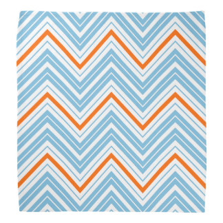 Zigzag Pattern Orange White & Blue Bandana