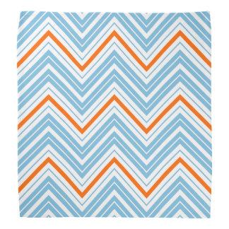 Zigzag Pattern Orange White & Blue Bandanas