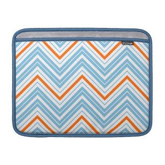Zigzag Pattern Orange White & Blue Sleeve For MacBook Air