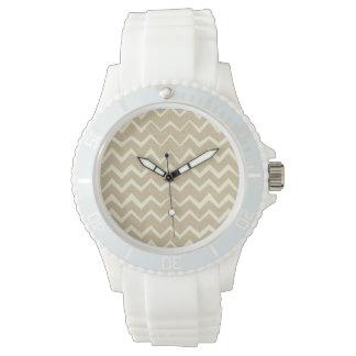 Zigzag pattern wrist watches