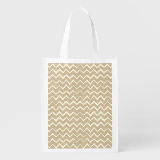 Zigzag pattern grocery bag