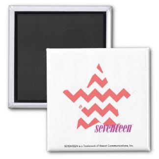 ZigZag Pink 4 Refrigerator Magnet
