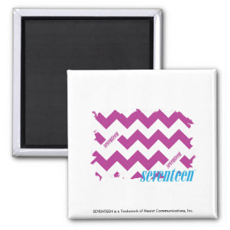 ZigZag Purple 3 Square Magnet