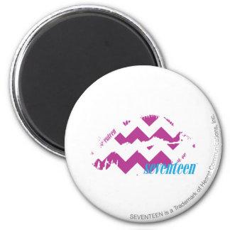 ZigZag Purple 6 Cm Round Magnet