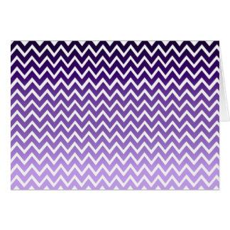 Zigzag Purple Chevron Pattern Greeting Card