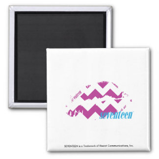 ZigZag Purple Square Magnet