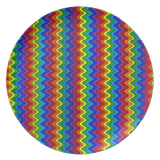 Zigzag Rainbow Plate