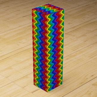 Zigzag Rainbow Wine Gift Box