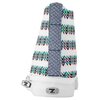 ZIGZAG STRIPES (green, red, blue) High Tops