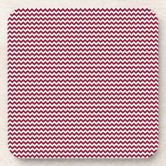 Zigzag - White and Burgundy Drink Coasters