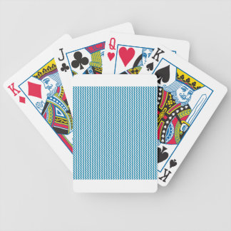Zigzag - White and Celadon Blue Bicycle Card Deck