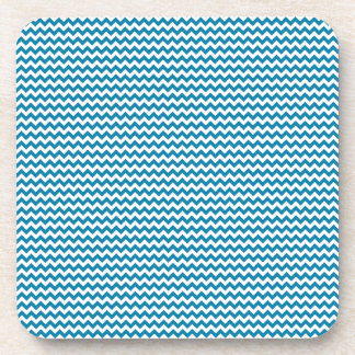Zigzag - White and Celadon Blue Drink Coasters