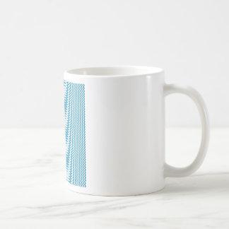 Zigzag - White and Celadon Blue Coffee Mug