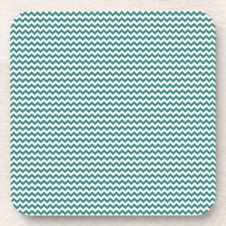 Zigzag - White and Celadon Green Drink Coaster