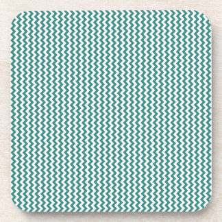 Zigzag - White and Celadon Green Drink Coasters
