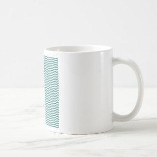Zigzag - White and Celadon Green Coffee Mug