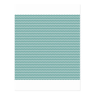 Zigzag - White and Celadon Green Postcard