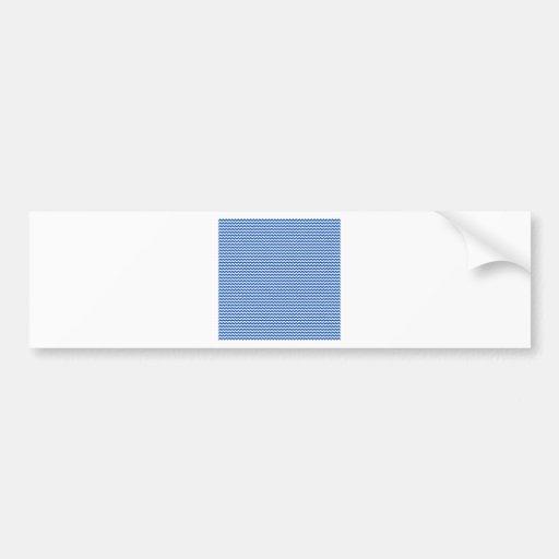Zigzag - White and Cobalt Bumper Stickers