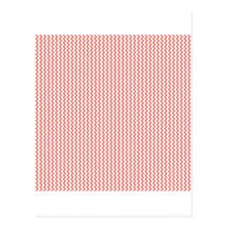 Zigzag - White and Coral Pink Postcards