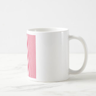 Zigzag - White and Crimson Coffee Mugs