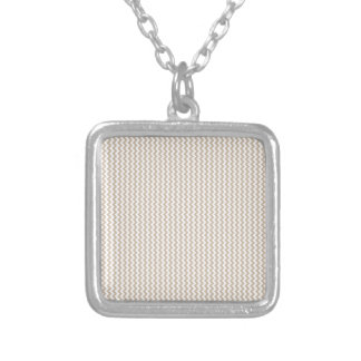 Zigzag - White and Dark Vanilla Necklaces