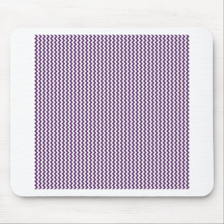 Zigzag - White and Imperial Mouse Pads