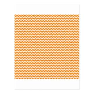 Zigzag - White and Orange Postcard