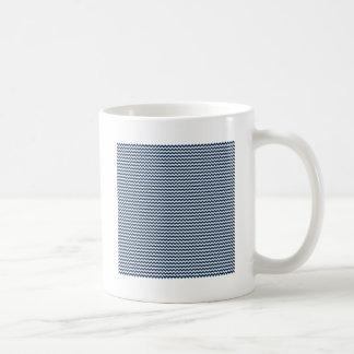 Zigzag - White and Oxford Blue Mug