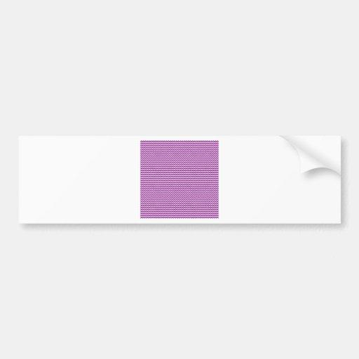 Zigzag - White and Purple Bumper Stickers