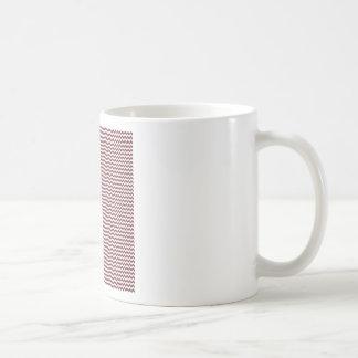 Zigzag - White and Wine Coffee Mugs