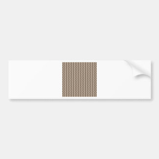 Zigzag Wide - Almond and Cafe Noir Bumper Sticker