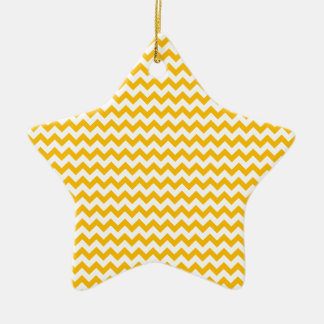 Zigzag Wide - White and Amber Christmas Ornaments