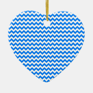 Zigzag Wide - White and Azure Ornament