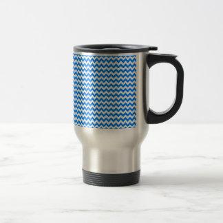 Zigzag Wide - White and Azure Mug