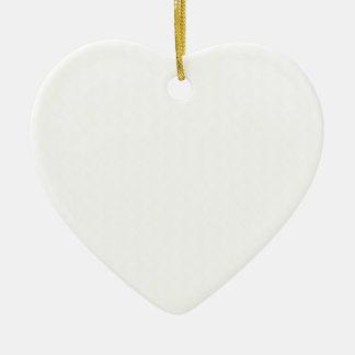 Zigzag Wide  - White and Beige Ceramic Heart Decoration