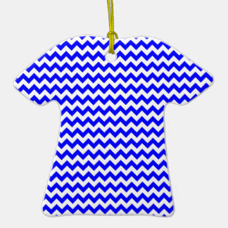 Zigzag Wide  - White and Blue Ceramic T-Shirt Decoration