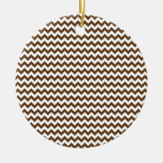 Zigzag Wide  - White and Brown Nose Round Ceramic Decoration