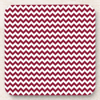 Zigzag Wide - White and Burgundy Coaster