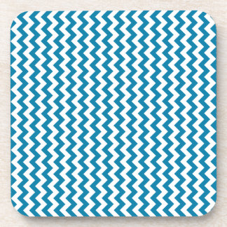 Zigzag Wide - White and Celadon Blue Coasters