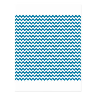 Zigzag Wide  - White and Celadon Blue Postcard
