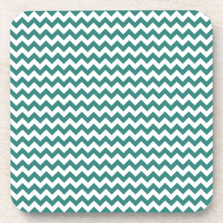 Zigzag Wide - White and Celadon Green Drink Coasters