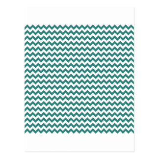 Zigzag Wide  - White and Celadon Green Postcard