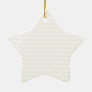 Zigzag Wide  - White and Champagne Ceramic Star Decoration