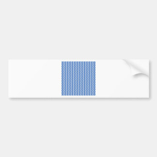 Zigzag Wide - White and Cobalt Bumper Stickers